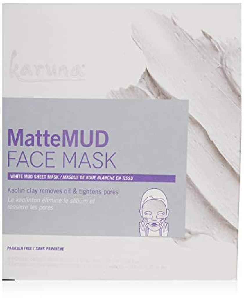 低い感心する報復するKaruna MatteMud Face Mask 4sheets並行輸入品