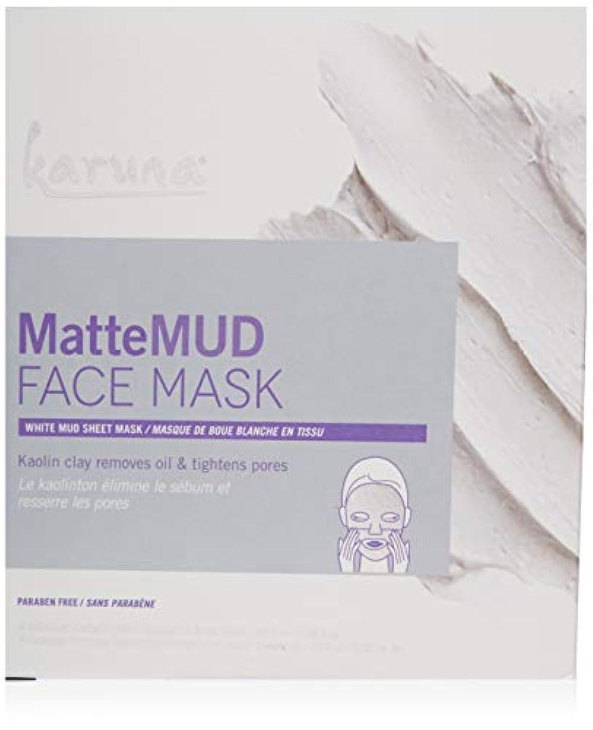 チューブ一スパンKaruna MatteMud Face Mask 4sheets並行輸入品