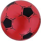 Perfeclan キッズ ミニサッカー 8.5インチ インフレータブル プラスチック製 スポーツ運動 フットボール 4色選択でき - 赤