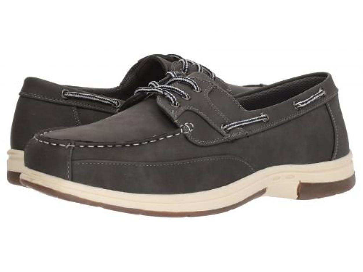運営赤外線ラベンダーDeer Stags(デアスタッグズ) メンズ 男性用 シューズ 靴 ボートシューズ Mitch - Dark Grey Simulated Oiled Leather [並行輸入品]