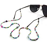 Bohemia Colored Beaded Eyeglass Chain, 28 inch