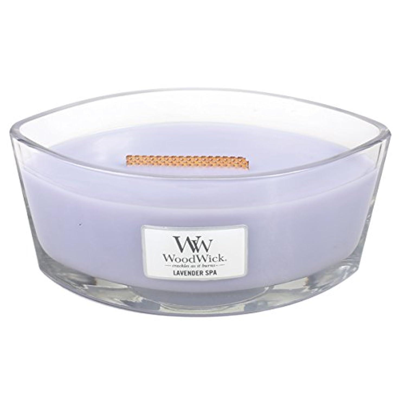 刺繍呼吸する連合Wood Wick ハースウィックL 「 ラベンダースパ 」 キャンドル W940053028