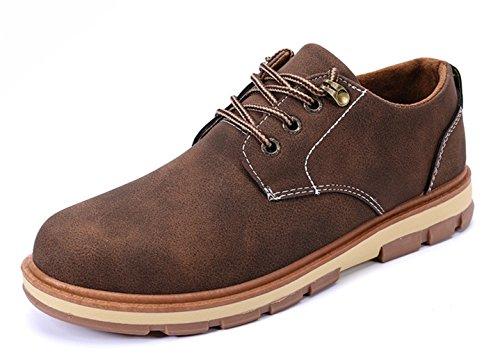 Coottie スニーカー メンズ デッキシューズ 紐 ファッションスニーカー 靴 ローカット カジュアル (26.5cm, ブラウン)