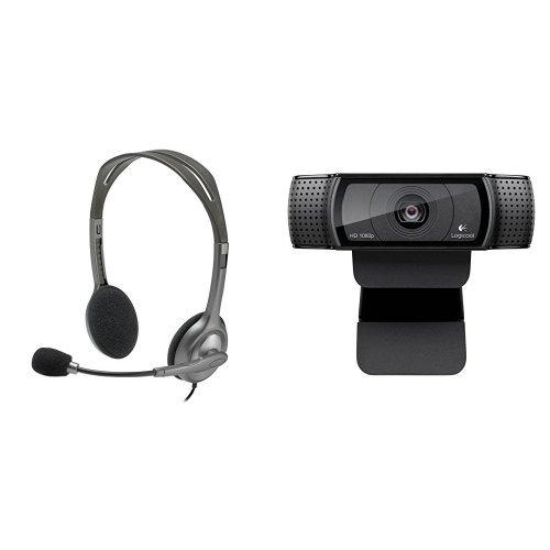 【ビデオ会議やSkypeに最適 ロジクール ヘッドセット&web cameraセット】H111r+C920r