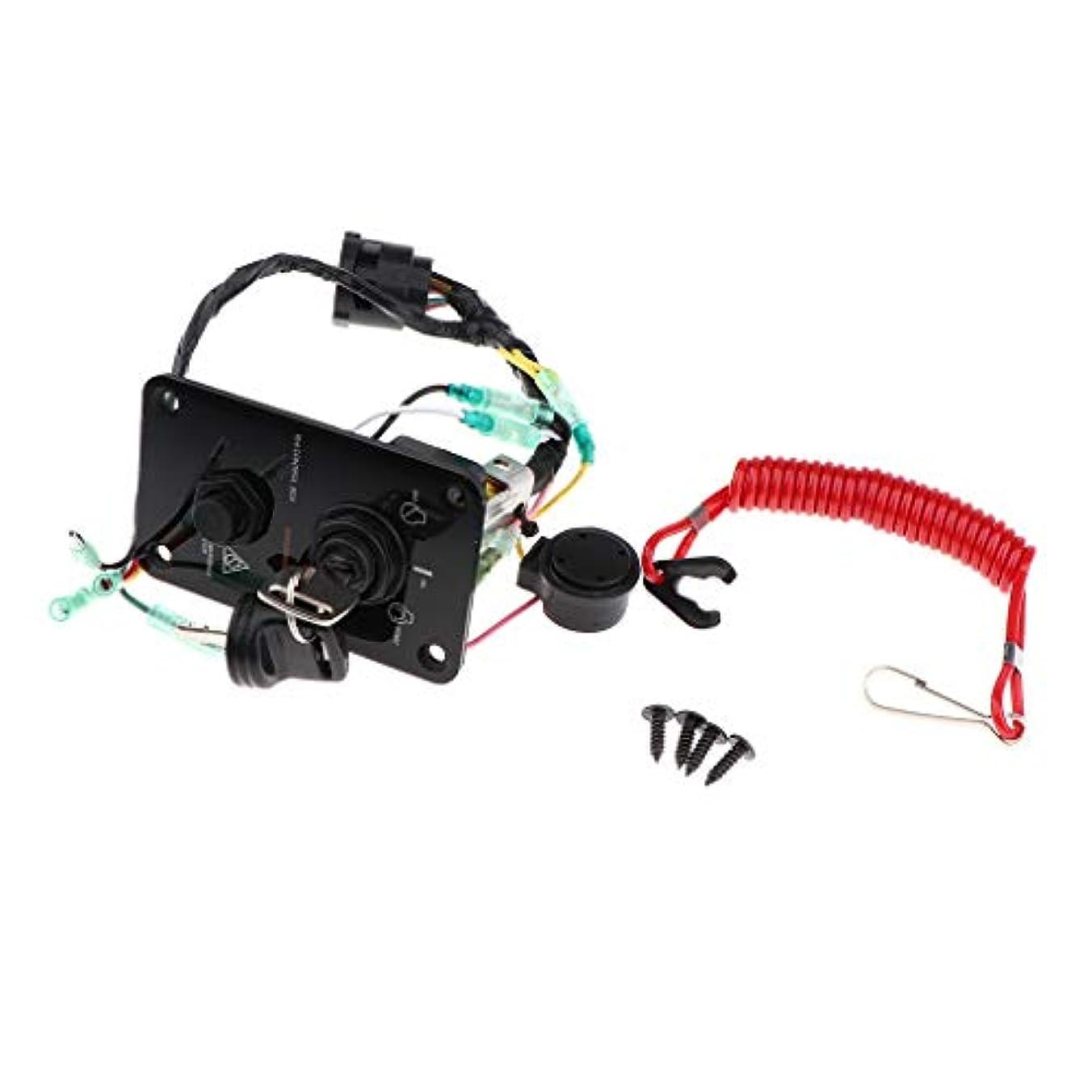 シャーク血色の良いブローホールH HILABEE スイッチパネル アウトボードシングル 垂直コントロール ヤマハ704-82570-12-00用