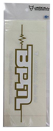 JACKALL(ジャッカル) BPM カッティングステッカー S ゴールド/ホワイト.