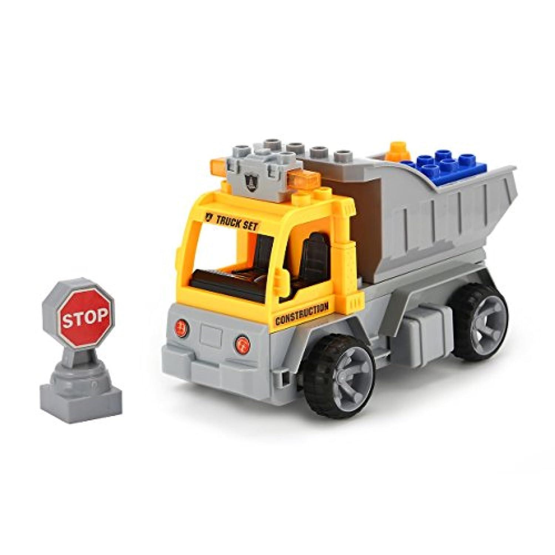 1/18ビルディングブロックエンジニアトランスポートRCトラック車のレンガ教育的なギフト