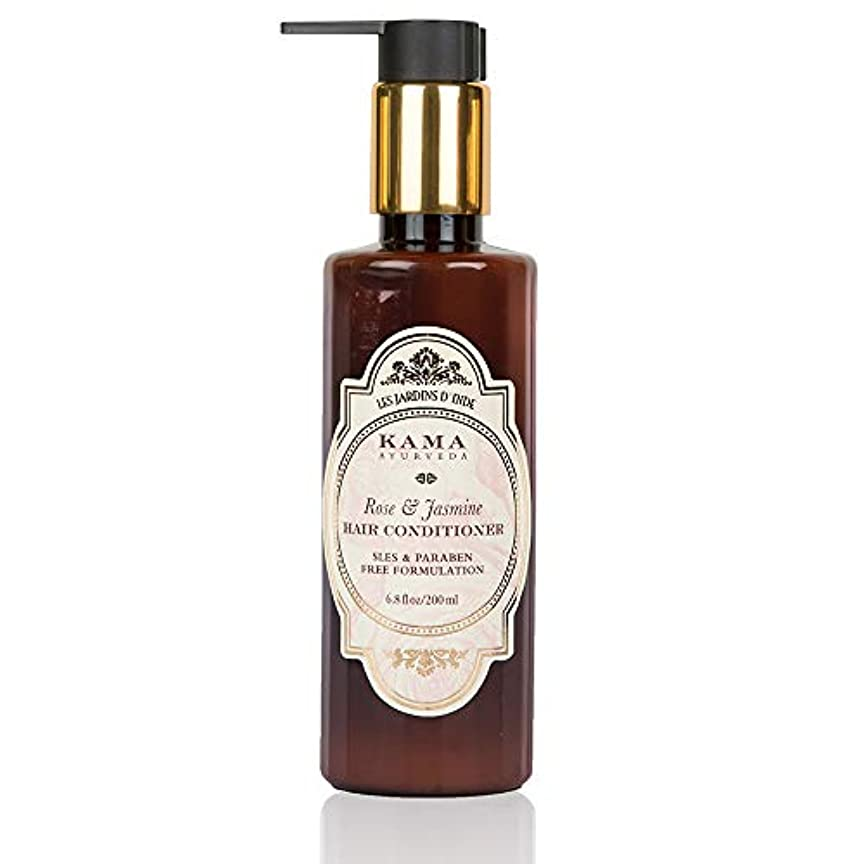 パステル凝縮する分析KAMA AYURVEDA ローズ&ジャスミン ヘアコンディショナー Rose & Jasmine Hair Conditioner 200ml