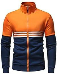 gawaga メンズカジュアルスタンドカラー軽量郵便スウェットシャツアクティブスポーツウェアコート