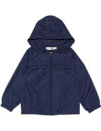 (アイアムマリリン) IamMarilyn子供服 女の子 パーカー 長袖 普段着 通学着 フリル&取り外し可能フードつき ジップアップナイロンパーカージャケット