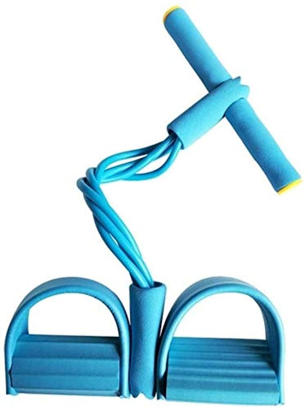 ポールタップお誕生日家庭用フィットネス フィットネス機器の4 Resistanc弾性プルロープエクセ漕ぎ手ベリーレジスタンスバンドホームジムスポーツトレーニング弾性バンド