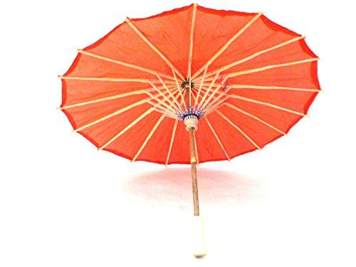 ミニ 和傘 無地 赤 日本舞踊 踊り傘 全長約41㎝ 直径5...