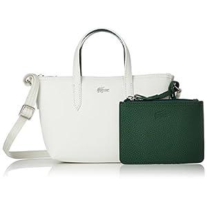 [ラコステ]トートバッグ ミニバッグ付き2WAY【日本限定】 ANNA ホワイト×グリーン