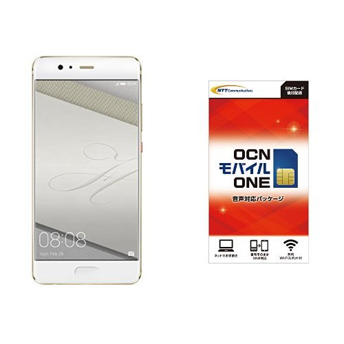 Huawei 5.5型 P10 Plus SIMフリースマートフォン ダズリングゴールド 日本正規代理店品 P10 PLUS/VKY-L29A/DA OCN モバイル ONE 音声通話+LTEデータ通信SIMセット