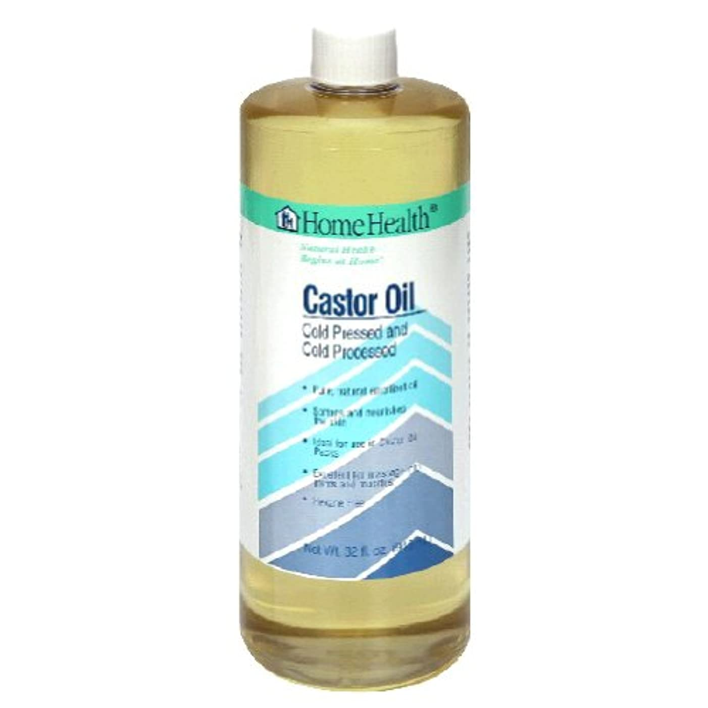 工夫するシアー機関Castor Oil - 32 fl oz by Home Health
