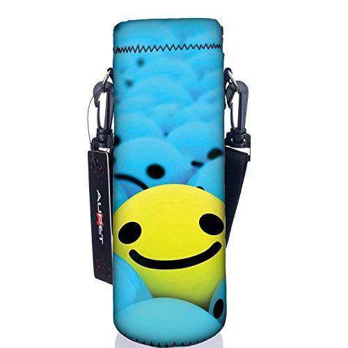 AUPET 水筒カバー 携帯式ボトルカバー 水筒ケース 調節可能なショルダーストラップある 3.14インチ(約8cm)以下直径のボトルに合う (750ML, PBC-26)