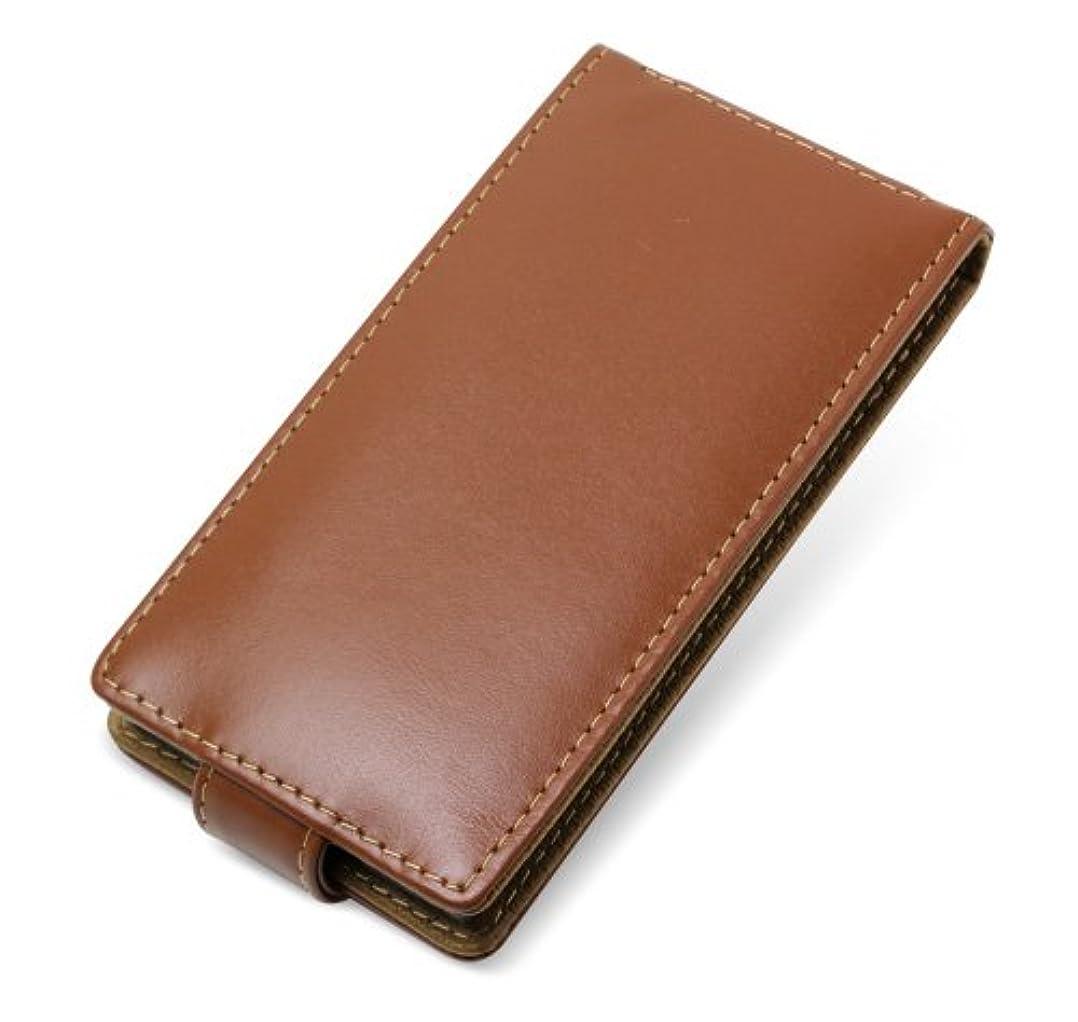 松の木黒褐色ミヤビックス PDAIR レザーケース for ARROWS A 101F SoftBank/REGZA Phone T-02D docomo 縦開きタイプ(ブラウン) PALC101FF/BR