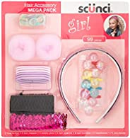 Scunci Girl Mega Pack (Bun Maker), 99 Pieces