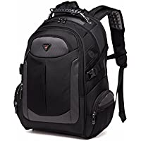 Laptop Backpack for Men, with Water Resistant Durable Oxford Fabric Casual Travel Business School College Unisex Men Women Fits 17.3 Inch Notebook Computer Tablet, Black by YESO