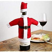 URONN クリスマスレッドワインバッグ3点セット - セーターワインボトルカバー