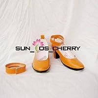 【サイズ選択可】コスプレ靴 ブーツ K-165 美少女戦士セーラームーン セーラーヴィーナス 愛野美奈子 男性25.5CM