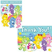 Care Bears Invitations and Thank You Notes w/Envelopes (8ct ea.) [並行輸入品]