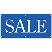 Sale 青 - 小売店のビジネスサインバナー