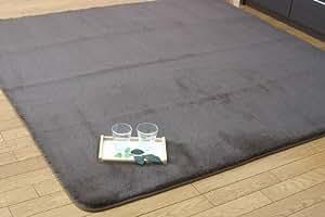 イケヒコ ラグ カーペット 1.5畳 無地 フィラメント糸 『フィリップ』 ブラウン 約130×185cm ホットカーペット対応