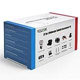 Nintendo switch 保護セットYounik 22in1 アクセサリーセット ゲームセット 専用ケース+スタンド+保護カバー+テニスラケット+Joy-Conハンドル+その他 プレミアム仕様 ギフト包装
