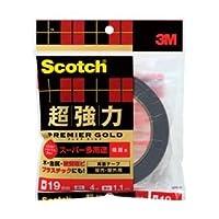 (業務用セット) スコッチ 超強力両面テープ プレミアゴールドスーパー多用途(粗面用) 1巻 型番:SPR-19 【×3セット】
