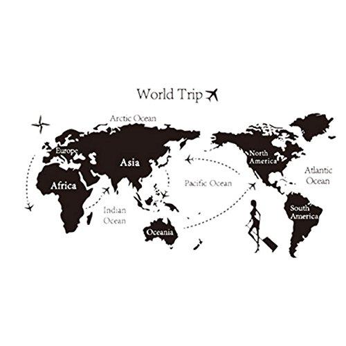 RoomClip商品情報 - STARDUST 転写式 ウォールステッカー 綺麗 壁 おしゃれ 豹 世界地図 音楽 英語 カフェ お店 PR 部屋 インテリア (Bタイプ) SD-TENWAL01-B