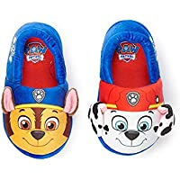 Nickelodeon Paw Patrol Chase & Marshall Toddler Boy's Slippers Shoes Large (9/10) Blue