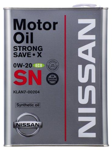 NISSAN エンジンオイル SNストロングセーブ・X 4L 0W20 合成油  [HTRC3]