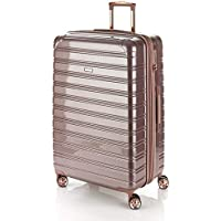 Flylite I-Deluxe 77cm Hard Suitcase Luggage Trolley Rose Gold Large