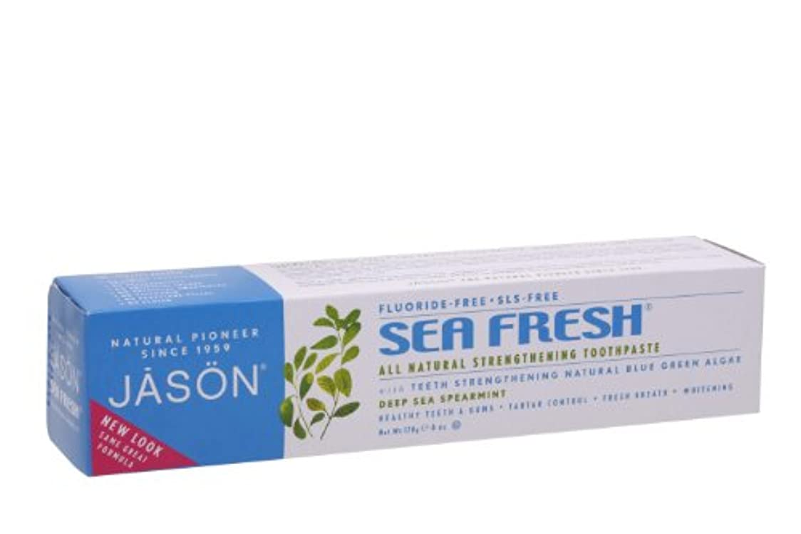 亜熱帯引き金香ばしいJASON ジェイソン トゥースペーストSF シーフレッシュ スペアミント