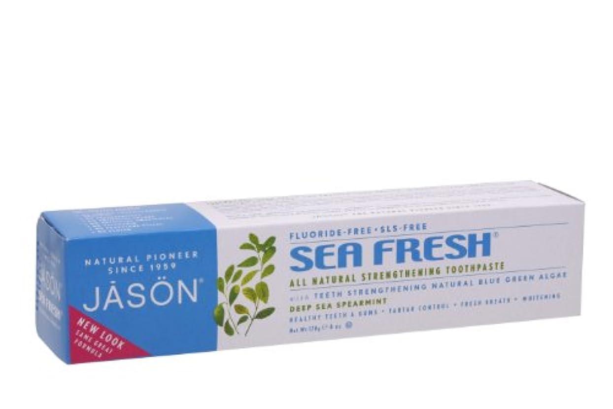 安心させる伝統有効化JASON ジェイソン トゥースペーストSF シーフレッシュ スペアミント