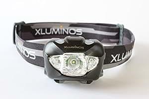 Xluminos 超強力ヘッドライト 【防水仕様】 専用ポーチ、予備ヘッドバンド、電池付属