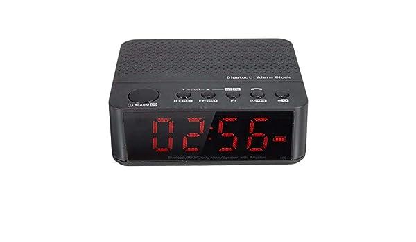 Bluetooth Digital LED Display Alarm Clock Speaker Amplifier FM ...