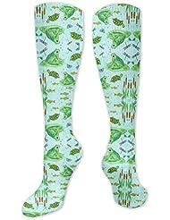 靴下,ストッキング,野生のジョーカー,実際,秋の本質,冬必須,サマーウェア&RBXAA Frog Pond Socks Women's Winter Cotton Long Tube Socks Cotton Solid...