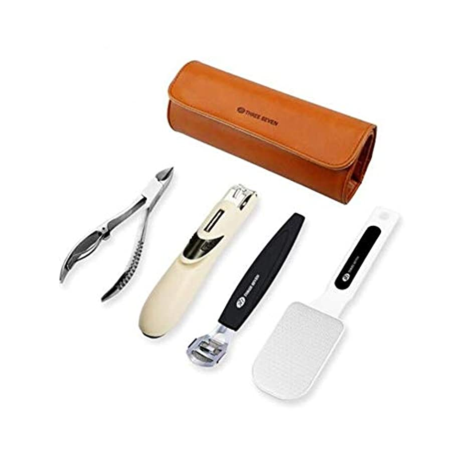 マカダムに付けるサイドボードQiaoxianpo01 足研削盤、足のツールを保護、足の裏を修復、古いデッドスキンを外し、フットストーン、ネイルクリッパー+フットボード+ペディキュアナイフ+ Paronyitisネイルクリッパーセット ,より速い足 (Color : Silver, Size : 16.6*3.7*1.1cm)