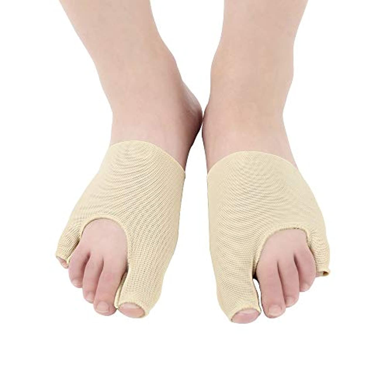 差別化する倫理全員高弾性のためのつま先補正靴下ケア厚手のダンピング吸収汗通気性ナイロン布をつま先外反の重複を防ぐために吸収,2pairs,S