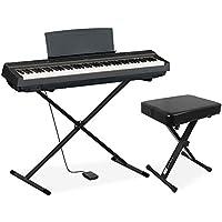 YAMAHA P-125 電子ピアノ 88鍵盤 (ブラック X型スタンド・X型イスセット)
