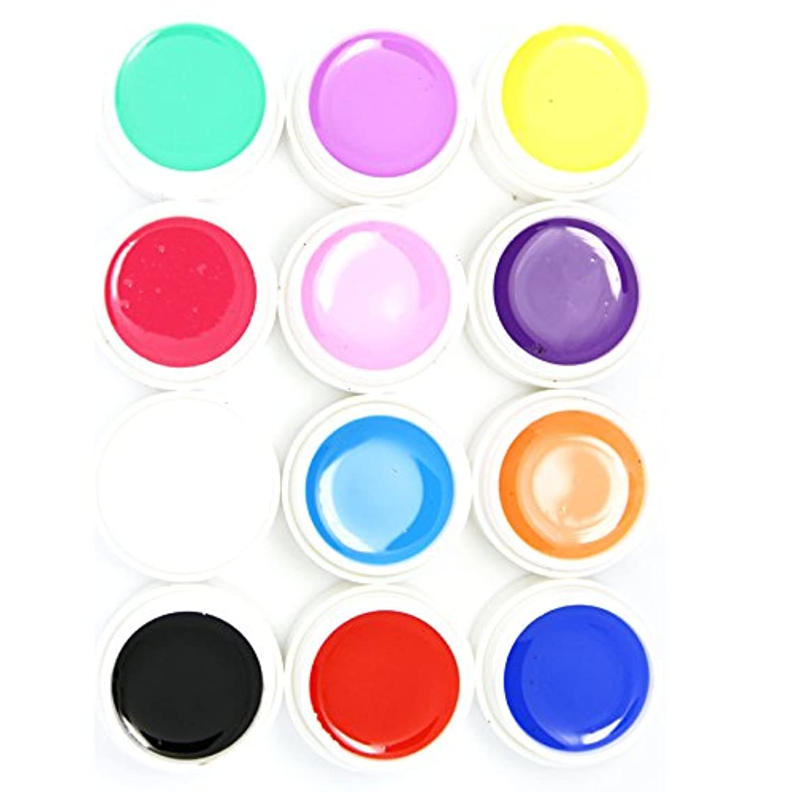 ラジエーターしかしスクリーチカラー ジェル UVジェル ネイルアート 発色綺麗 12色セット (1)