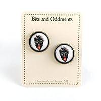 Victorian Krampus Stud Earrings [並行輸入品]