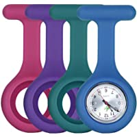 Silicone FOB Watch Pack - [x4] Rose Pink, Purple, Teal, Blue