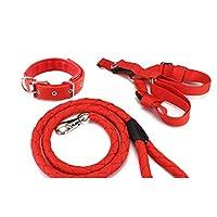 XJRHB ペット用品、犬の鎖、大中小犬の鎖、犬の首輪、ハイエナロープ、マルチカラーオプション (色 : Red+black, サイズ さいず : XXL (70-140 kg))