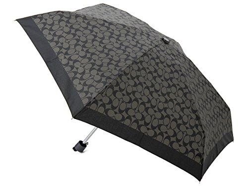 [コーチ] COACH 折りたたみ傘/日傘 F63365SLCBK シグネチャーミニ アンブレラ ブラック MINI UMBRELLA [並行輸入品]