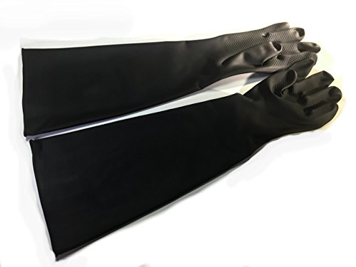 ゴム手袋 グローブ 厚手 サンドブラスト メッキ 消毒 清掃 作業 用