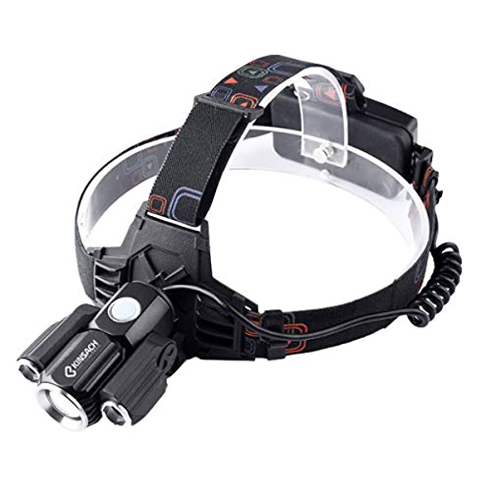 議論するダイエットLED ヘッドライト USB充電式 2200mah 18650バッテリー付き T6 3LED 1000ルーメン 180°可動式サイドライト ヘッドランプ 4種モード IPX5防水 登山/自転車/キャンプ/サイクリング/ハイキング/防災/夜釣り/非常時用 ヘルメットライト