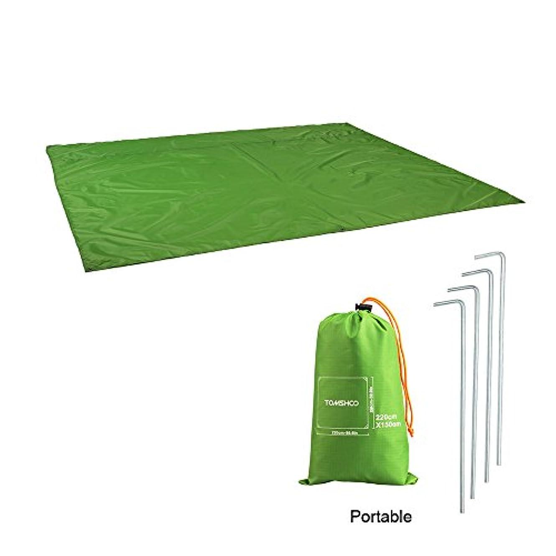 無力急襲武器Tomshoo キャンピング マット キャンピング フロアマット ピクニックパッド 防水 テント シート オレンジ/グリーン/ブルー